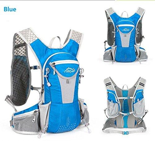 5L impermeabile borsa zaino da ciclismo leggero Outdoor Sports MTB equitazione zaino idratazione compatibile per escursionismo running zaino, Blue