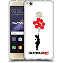 Official Brandalised Jerusalem Balloons Banksy Red And Black Street Art Soft Gel Case for Huawei P8 Lite (2017)
