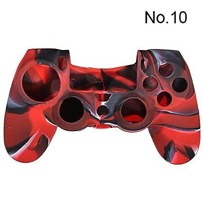 SODIAL(R) Funda silicona protectora para PS4 Ca...