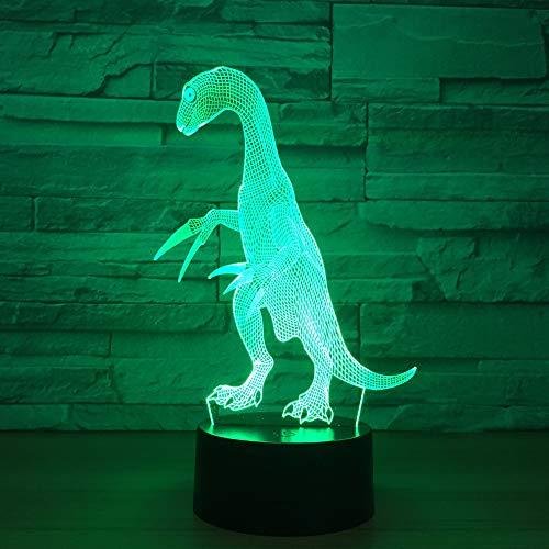 Ilusión 3D Lámpara Dragón Oficina Decoración Del