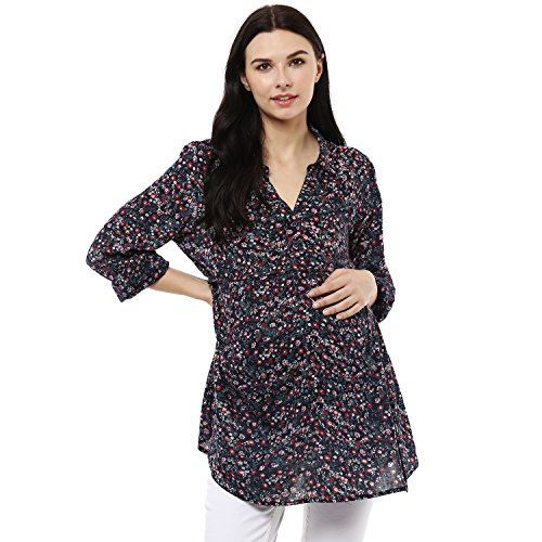Wobbly Walk Women's V-Neck Full Sleeves Maternity Top