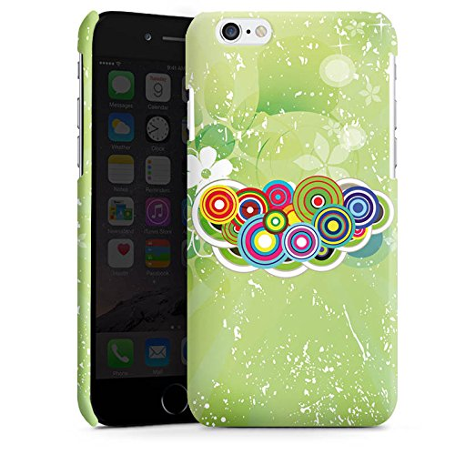 Apple iPhone 4 Housse Étui Silicone Coque Protection Cercles couleurs Motif Cas Premium brillant
