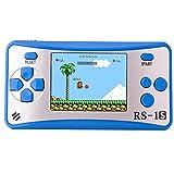 ZHISHAN Tragbare Handheld Konsole Gaming Spieler Geburtstags Geschenk für Kinder Gebaut 168 Classic Retro Spiele(Blau)