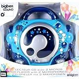 BigBen CD-Player CD47 mit 2 Mikrofonen Blau
