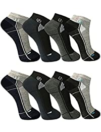 BestSale247 - Socquettes - Homme multicolore blau schwarz bunt weiß uni Mehrfarbig