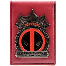 Cartera de Marvel Deadpool placa de metal rojo