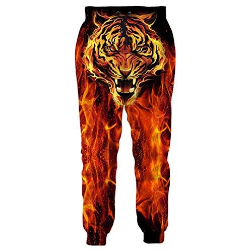 Tiger Spandex Rock (Animal Print 3D Joggers Pants Herrenhose Funny Jogginghose Tiger Wolf Bodybuilding Hose Hose DD10102 M)