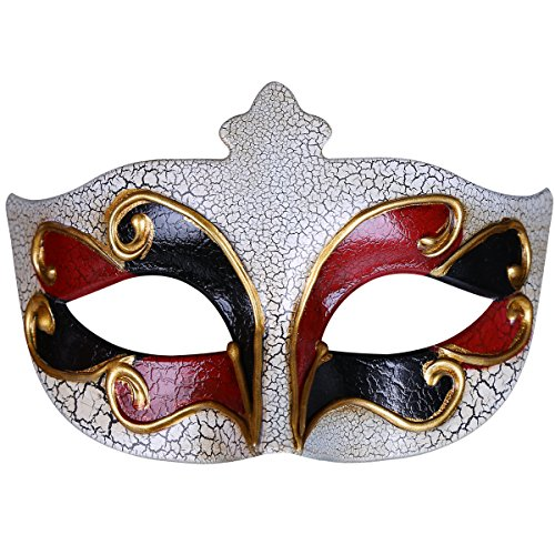 Yvonnelee Damen Herren Maskerade Maske Venetian Musical Kariert Party Maske Halloween Mardi Gras Maske 124