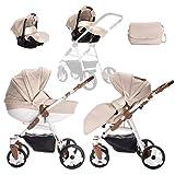 Friedrich Hugo | modèle Easy Comfort | 3en 1Combi Poussette | couleur: sable...