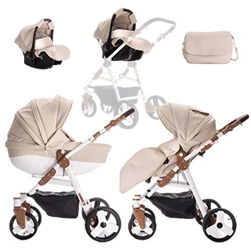 Friedrich Hugo | modèle Easy Comfort | 3en 1Combi Poussette | couleur: sable & Eco en cuir