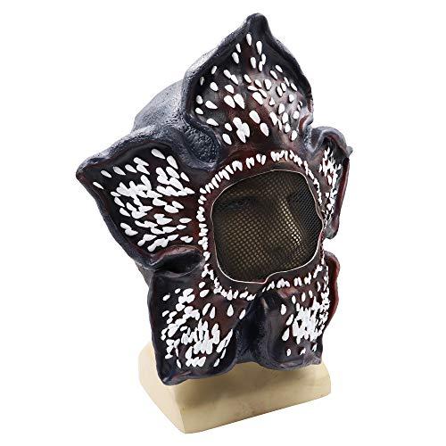 JUZIPI Fremde Dinge Demogorgon Horror Kostüm Maske, Strange Things Halloween Cosplay Maskerade Kostüm Party Kannibale Blume Gesicht Kopf Maske Latex für Kinder Männer Frauen (Blume Mann Kostüm)