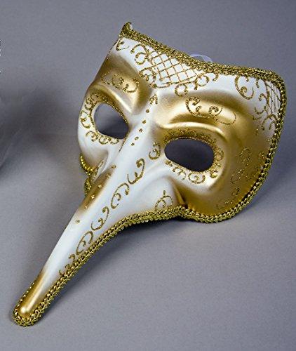 Und Kostüm Pantalone Maske - Unbekannt Maske Venezianische Karneval Theater Raben Gold