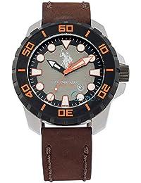 Reloj U.S. Polo Assn. usp4258or de piel marrón para hombre