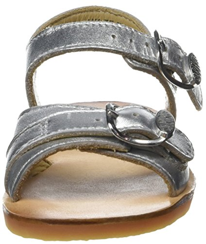 Start Rite Bailey, Sandales Bout Ouvert Fille Argent (Silver)