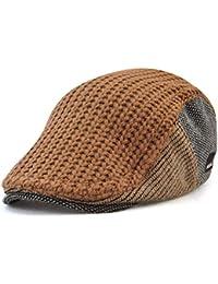 ROBO Uomo Basco Scozzese Stile Inglese Maschi Cappello di Lana a Maglia  Uomini Berretti Caldi di d9c02781f1c0