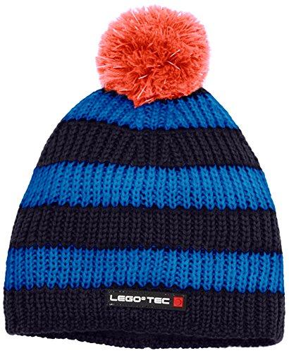 LEGO Wear Jungen Mütze Tec Ace 677-Strickmütze, Blau (Dark Blue 597), 56 (Herstellergröße: 54)