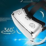 Mit Augenschutz VR-Kopfhörer 3D-Brille 360 HD-Anzeige Immersiv Virtuelle Realität Helm Videospiel-Controller Geeignet Für Iphone 7 6 6S Plus, LG G4, Nokia, Xperia, Moto,PS4 Computer W-Lan HDMI Helm,White