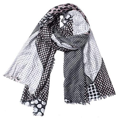 ZSDGY Automne Et d'hiver Hommes Et Femmes Écharpe/Dot Imprimer Coton Gland Super Long Écharpe Écharpe Châle 90 * 190cm,B