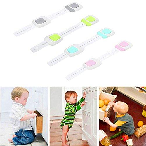 LawUza 4Stück Kleinkind Sicherheit Lock für Baby Kinder Kind Proof Schrank Schublade Schrank Kühlschrank Tür (Lock-bildschirm-tür)