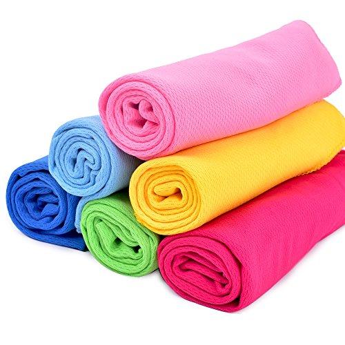 Packung mit 6, kühlen Handtuch, sofort kalt, Super saugfähig und antibakteriell, keine Kühlung erforderlich (Camo Bandana Digital)