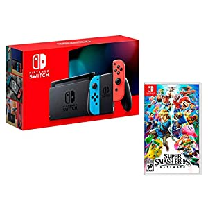 Nintendo Switch 32Gb Neon-Rot/Neon-Blau + Super Smash Bros: Ultimate