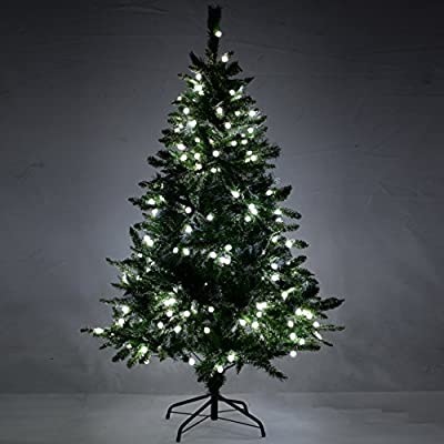 WeRChristmas Pre-Lit Mixed Frosted Tip Christmas Tree with White LED Ball Lights