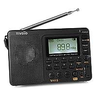 f17f78682 TIVDIO V-115 FM AM SW Radio Multiband Radio Receiver REC Recorder Bass