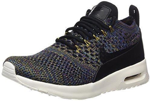 Nike Damen Air Max Thea Ultra Flyknit Sneaker, Schwarz (Black/Black-Ivory-Night Purple), 37.5 EU
