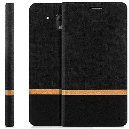 zanasta Designs Tasche HTC Desire 526G Hülle Flip Case Schutzhülle Handytasche mit Kartenfach Schwarz
