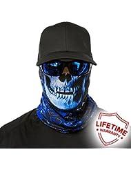SA Company Face Shield Cagoule * * Designs Différents * * Multi unkti Ons écharpe Masque Fishing Tête de Mort Skull Bandana Bandana Masque de ski moto paintball (Hydro Skull)