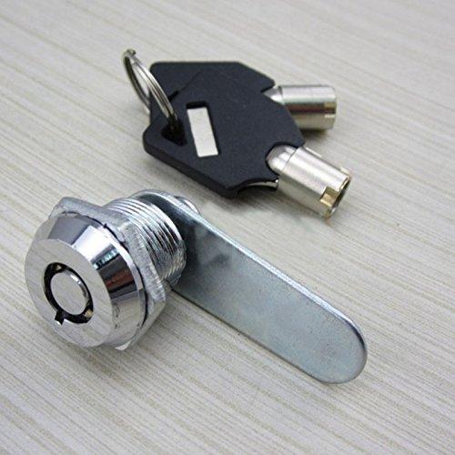 Jiayuane Tubular Cam Lock, Zylinderschrank Schrank Schließfach Safe Lock Camlock Sicherheit mit 2 Schlüsseln