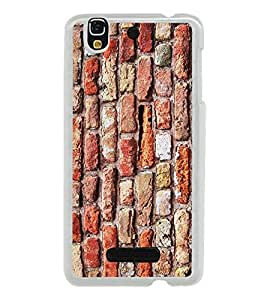 PrintVisa Designer Back Case Cover for YU Yureka :: YU Yureka AO5510 (Brick Wall Pattern )