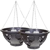 """15"""" Large Easy Fill Hanging Basket Buy One Get One Free (= 2 baskets)"""