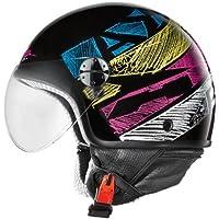 Axo Casco de Moto Subway Jet Negro / Multicolor L (59-60 cm)