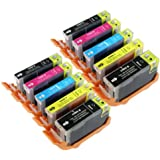10 Compatible PGI-520 CLI-521 Ink Cartridges for Canon Pixma Printer iP3600 iP4600 iP4700 MP540 MP550 MP560 MP620 MP630 MP640 MP980 MP990 MX860 MX870