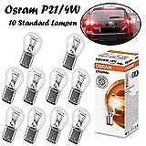 10x Osram P21/4W 12V BAZ15d 7225-02B Standard Weiß Bremslicht Hecklicht Nebellicht Ersatz Halogen Auto Lampe E-geprüft
