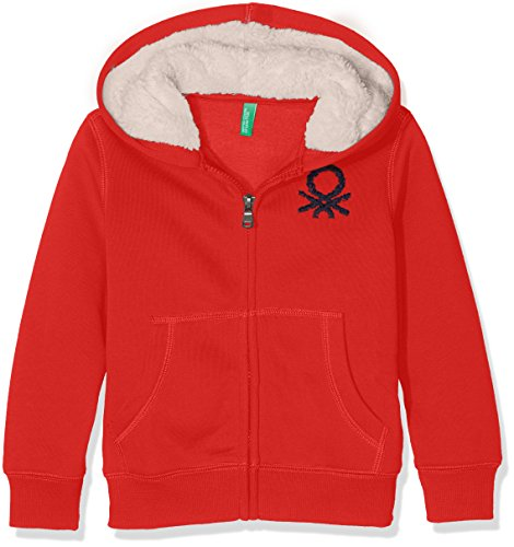 united-colors-of-benetton-3ue2c-sweat-shirt-a-capuche-garcon-rouge-red-7-8-ans-taille-fabricant-m