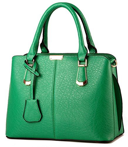 u-shot da donna in pelle PU messenger borsa a tracolla Hobo bag Green