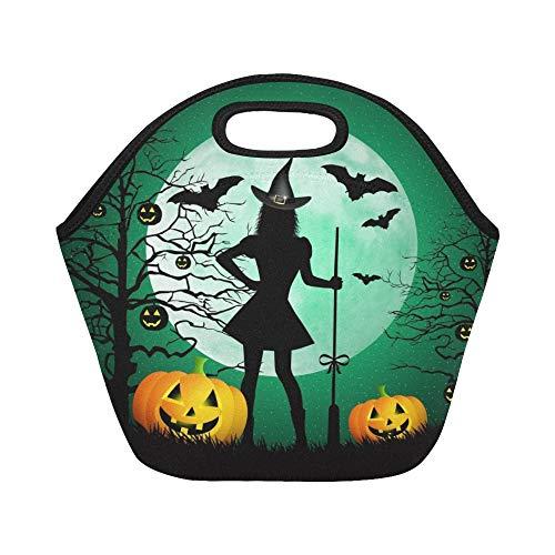 nch-Tasche Happy Halloween Große wiederverwendbare thermische dicke Lunch-Tragetaschen für Brotdosen Für den Außenbereich, Arbeit, Büro, Schule ()