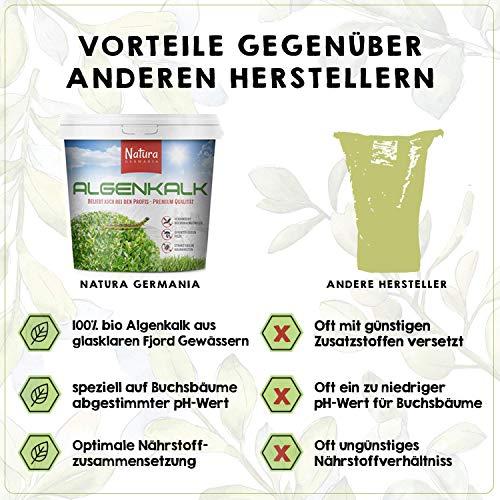 Algenkalk, 100% reines feinstes Premium Pulver, für Stärkung und Regeneration der Buchsbäume (z.B. als mittel gegen Buchsbaumzünsler und als Spritzmittel), Naturdünger - 5KG Eimer