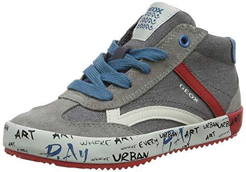 Mode Geox U Snake J Velorsleder Mesh Respira Tape Sneakers