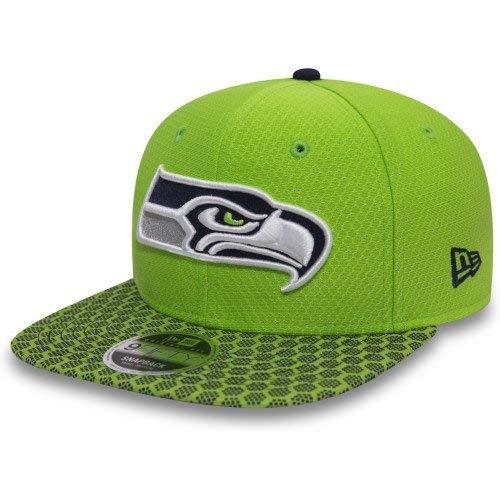 New Era Herren Caps/Snapback Cap NFL on Field Seattle Seahawks 9Fifty Grün S/M (Herren Nike Trikot Seahawks)