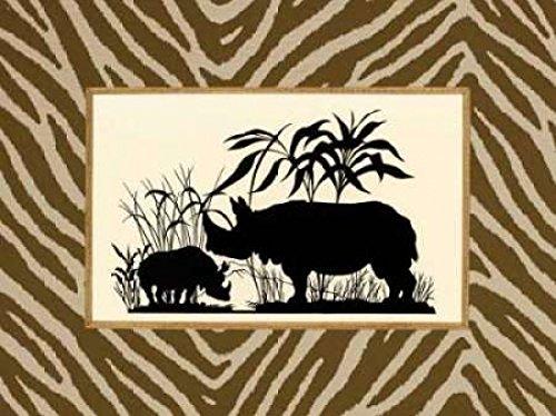 Sarah E Chilton – Serengeti Silhouette II Kunstdruck (45,72 x 60,96 cm) (Serengeti Silhouette)