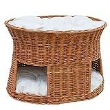 2-21-1 GalaDis Große Katzenhöhle XXL  aus Weide mit zwei Kissen