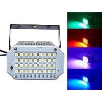 luz estroboscópica, Latta Alvor Luces estroboscópicas 36 LED ultrarrápidas de la luz de la etapa de la etapa con sonido activado y control de velocidad para las luces del disco del partido DJ (multicolored, Carcasa de aluminio)