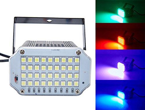 36 LED Disco Lichte, Latta Alvor Stroboskop Lichteffekt Bühnenbeleuchtung Farbe Partybeleuchtung strobe lampe DJ Röhrenblitz Lampen(multicolor, Aluminiumschale)