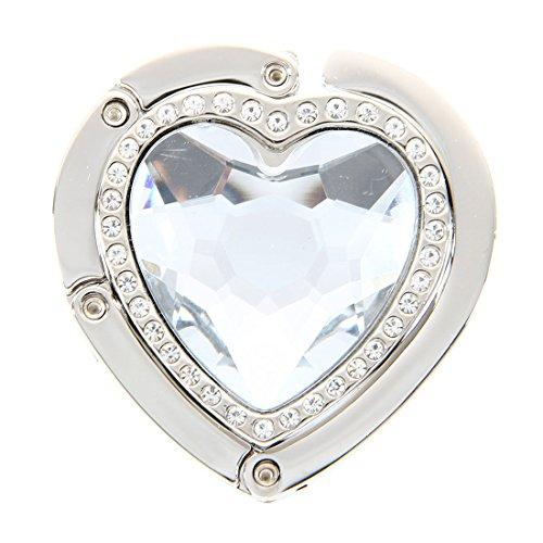 SODIAL(R) Forme de coeur pliable crochet pour porte-monnaie Sac a main sac