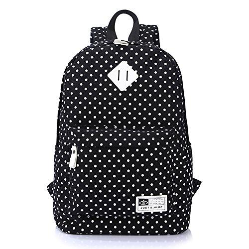 junior high et lycéens un sac à dos/sac à bandoulière Uni polka-dot/Ordinateur propre sacs au Japon et en Corée du Sud-A E
