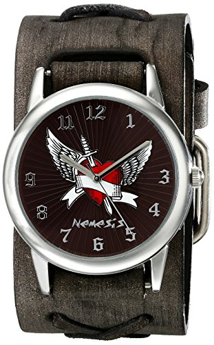 Nemesis Men's 923FXBK Angel Heart Series Analog Display Japanese Quartz Black Watch