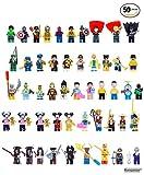 Quantité : Lot de 50 pièces de figurines de super-héros populaires assorties (Emballées individuellement dans un sac en plastique transparent)  Matériau : ABS (Plastique fort et sûr)   Important :  Doit-être joué sous la supervision d'un adulte. Ce j...